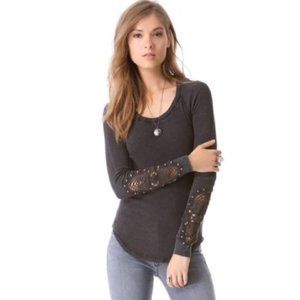 We the Free People Synergy Crochet Cuff Thermal